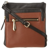 Perlina Handbags - Belinda Small Crossbody (Black/Cognac) - Bags and Luggage