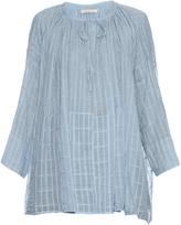 Mes Demoiselles Sonate checked cotton-jacquard blouse