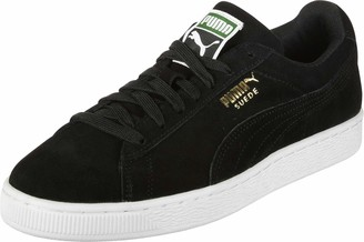 Puma Suede Classic+ 352634 Unisex Adults Low-Top Trainers black-team gold-white 6 UK