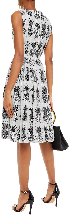 Thumbnail for your product : Dolce & Gabbana Pleated Printed Cotton-poplin Dress