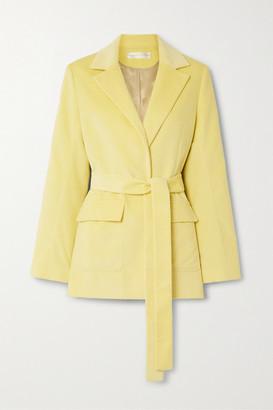 Victoria Victoria Beckham Belted Cotton-corduroy Blazer