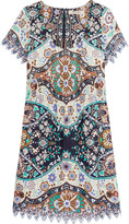 Etro Pleated printed cotton-poplin dress