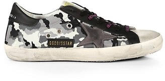 Golden Goose Men's Superstar Camouflage Low-Top Sneakers