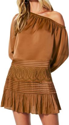 Ramy Brook Denali Embroidered Chiffon Skirt