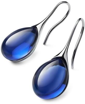 Baccarat Sterling Silver and Crystal Galea Drop Earrings