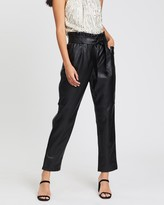 Miss Selfridge Faux Leather Paperbag Trousers