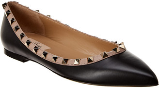 Valentino Rockstud Leather Flat