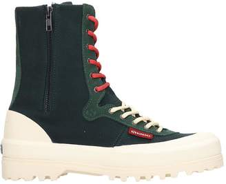 Superga Alpina Mid Sneakers In Green Canvas