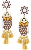 Mercedes Salazar hanging owl earring