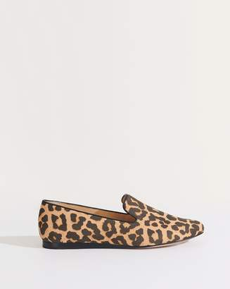 Veronica Beard Griffin Leopard Canvas Loafer