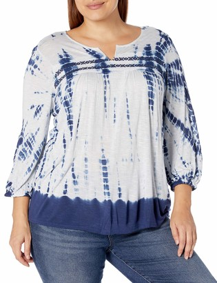 Vintage America Blues Women's Brielle 3/4 Sleeve Peasant Top