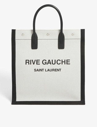 Saint Laurent Rive Gauche linen-canvas tote