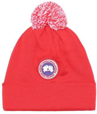 Canada Goose Kids Merino wool pom-pom beanie