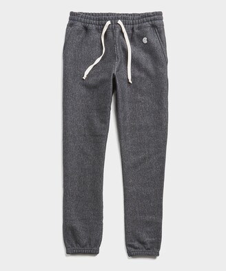 Todd Snyder + Champion Heavyweight Classic Sweatpant in Black Mix