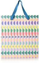 Oliver Bonas Medium Neon Geometric Gift Bag