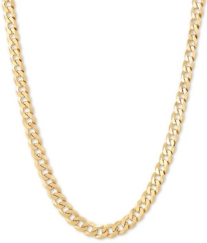 """Giani Bernini Flat Curb Link 18"""" Chain Necklace in 18k Gold-Plated Sterling Silver"""