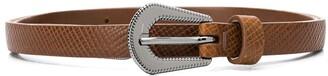 BRUNELLO CUCINELLI KIDS Textured Leather Belt