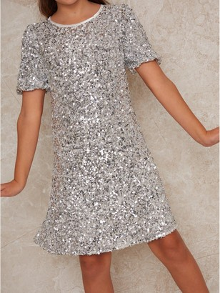 Chi Chi London Girls Lila Dress - Silver