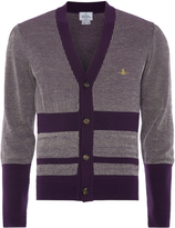 Vivienne Westwood Raw Cardigan Purple and Off White Size S