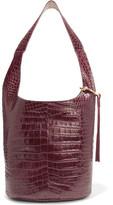 Elizabeth and James Finley Courier Croc-Effect Leather Shoulder Bag