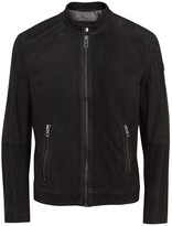Boss Orange Jonate Black Suede Biker Jacket
