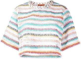 Missoni Mare loose-knit cropped top