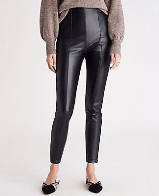 Ann Taylor The Petite Side Zip Faux Leather Legging