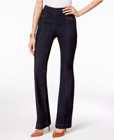 INC International Concepts Curvy Ink Wash Flare-Leg Jeans, Only at Macy's