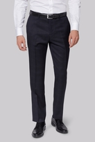 Moss Bros Tailored Fit Navy Check Pants
