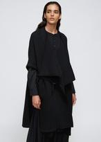 Yohji Yamamoto Black No Collar Cloak