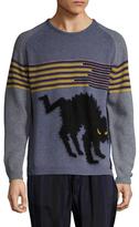 Fendi Intarsia Ribbed Sweater