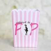"Mini ""About To Pop"" Popcorn Favor Box (10 Count)- Pink"