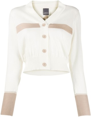 Lorena Antoniazzi Colour Block Cropped Cardigan