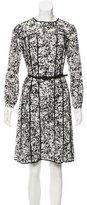 Oscar de la Renta 2015 Abstract Print Silk Dress