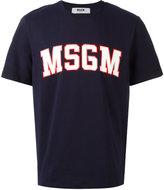 MSGM logo print T-shirt - men - Cotton - S