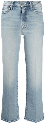 Mother Light Wash Cropped Jeans