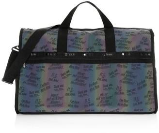 Le Sport Sac x Baron Von Fancy Slogan Weekender Bag