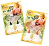 Baby Buddy Bib Clip for 0-36 Months, Navy/Red (Pack of 2)