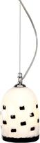 Voltolina Meg B&W - Black And White Murano Handmade Glass Pendant Lamp