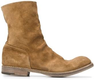 Premiata Distressed Side Zip Boots