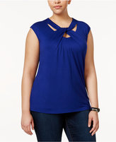 INC International Concepts Plus Size Cutout T-Shirt, Created for Macy's