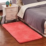 BHoming(TM) Ultra Soft 4.5 Cm Thick Indoor Morden Area Rugs Pads for Kids [Bedroom] [Rugs] [Blanket] [Footcloth] for Home Decor Rose, 78.7 by 78.7 Inch