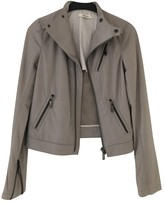 J Brand Grey Leather Leather Jacket for Women