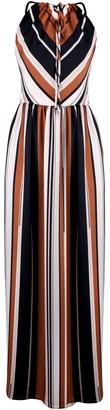 Muza Sleeveless Striped Maxi Strap Dress
