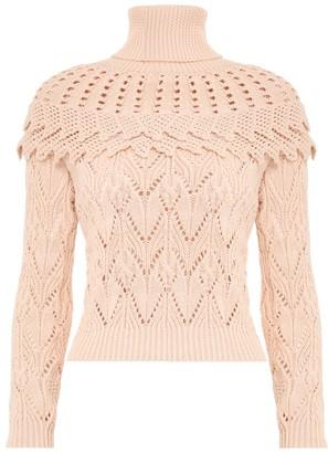Zimmermann Ladybeetle Ruffle Yoke Sweater