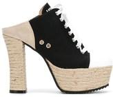 Moschino Women's Black Cotton Heels.
