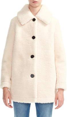 Maje Gatino Faux Fur Teddy Coat
