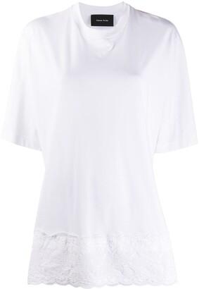 Simone Rocha broderie anglaise detail T-shirt