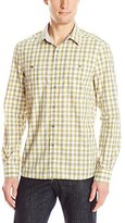 Kenneth Cole New York Kenneth Cole Men's Long Sleeve 2 Pocket Ombre Plaid Shirt