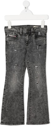 Diesel High-Waisted Flared Jeans